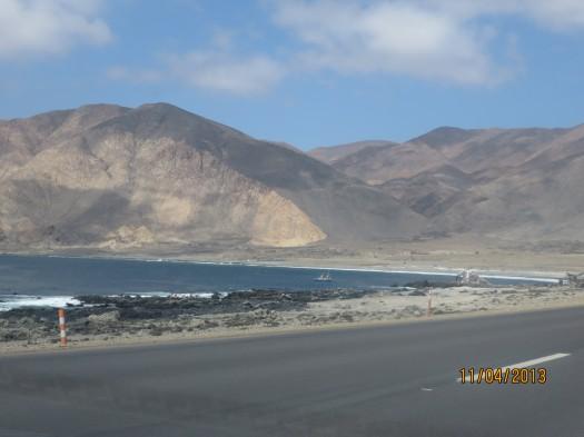 Primera visión del desierto de Atacama camino a Chañaral.