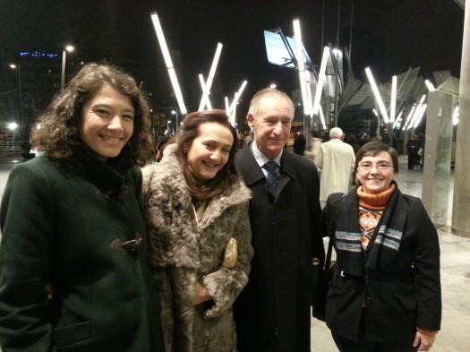 María José Mielgo con María Ängeles Vizos y su esposo Francisco Rodríguez Cardeñoso, con una amiga.