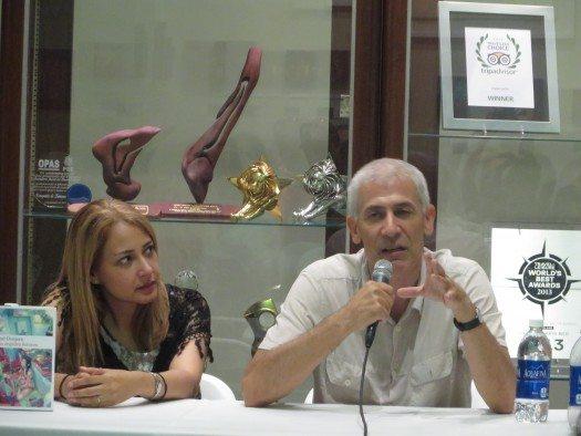 Awilda Cáez y José Ovejero