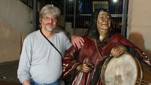 Osvaldo Risso junto a Mercedes Sosa.