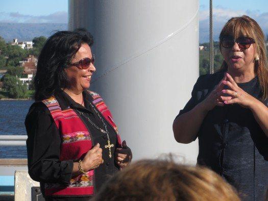 Irma Droz y Rafaela Espinosa
