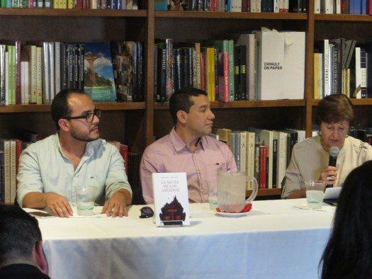 Rubén Varona, Carlos Bermeo e Isabel García Cintas.