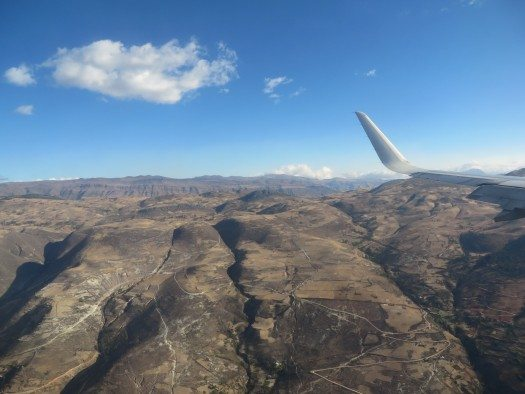 Aterrizando en Cajamarca, foto MJV