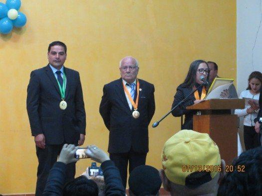 Alcalde Neptalí Ticla, José Guillermo Vargas y Miriam Caloretti