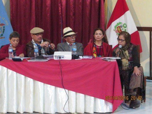 Kori Bolivia Carrasco, Isidoro Gómez, Javier Villegas, Graciela Cervantes y Luz Elena Sepúlveda