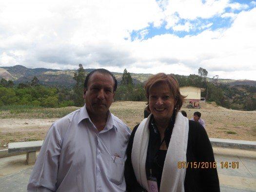 Profesor Manuel Bautista Mestanza y María Juliana Villafañe