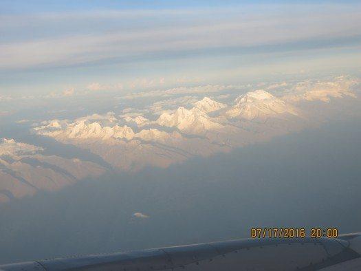 Vista del avión ---huaraz