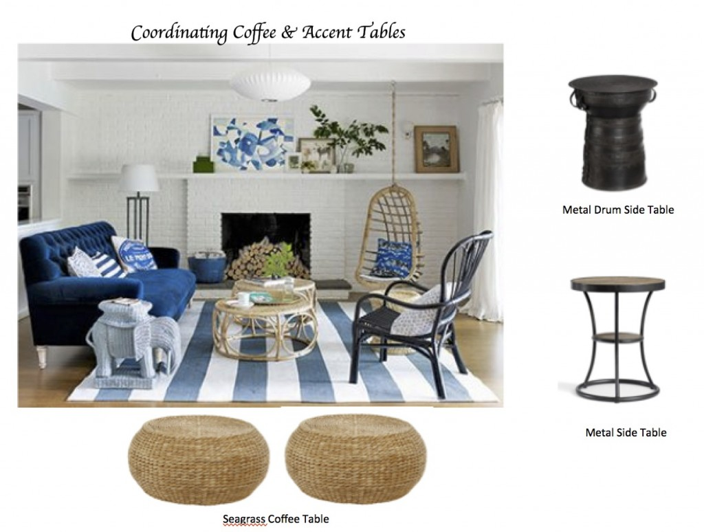to coordinate coffee accent tables