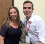 Con el escritor colombiano Jorge Franco