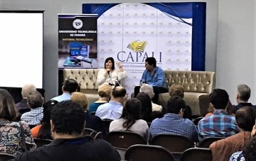 Presentacion del libro Cuentos elementales , de la escritora panameña Olga de Obaldía . Presentó el escritor panameño Ariel Barría Alvarado.