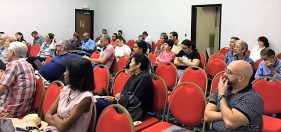 Taller literario sobre Cómo escribir novela negra, dictado por el escritor español Juan Bolea en el marco de la XIII Feria Internacional del libro de Panamá .