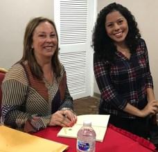 Presentación de la novela El color de las buganvillas. La escritora Nicolle Alzamora Candanedo con María Laura De Piano