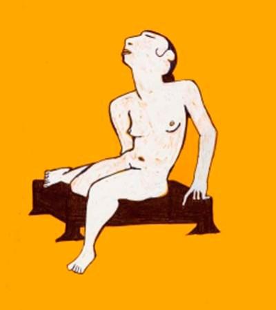Nude On Yellow II - 2001 (100€)