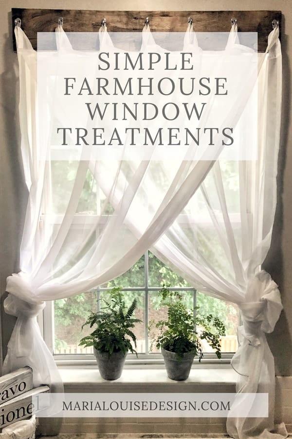 Simple Farmhouse Window Treatments • Maria Louise Design on Farmhouse Curtain Ideas  id=24693