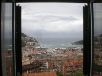 Vista de la bahía de San Sebastián desde mi ventana
