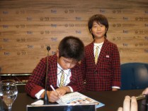 Los niños protagonistas de la ganadora Kiseki / I Wish, simpatiquísimos