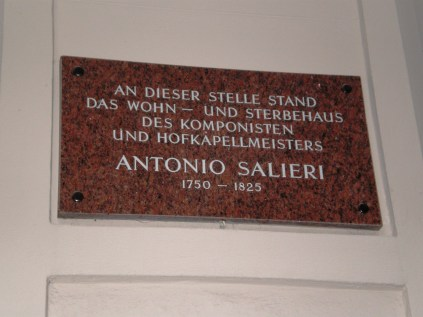 And Salieri's home, rival and opponent to Mozart