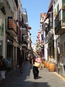 Calle del centro de Sitges