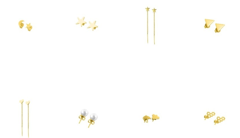 cercei din aur pe minionette.jpg