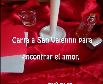 Carta a San Valentín para encontrar el amor.