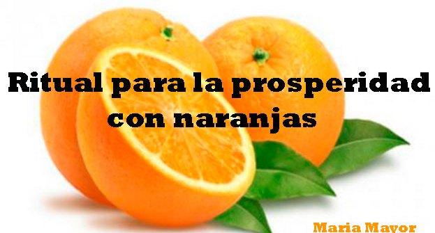 ritual para la prosperidad con naranjas