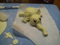 Mavelandet elefant til dåbskage.