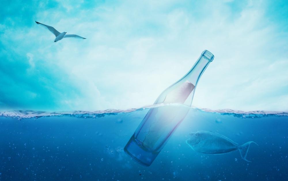 agua solarizada azul