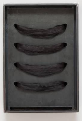 Jannis Kounellis n. en 1936. Sin Título (Hair). 2004