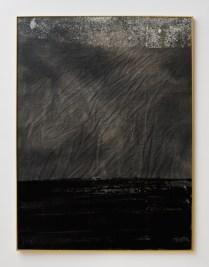 "Sam Moyer. ""Breakers II (10),"" 2013. Tinta sobre lienzo, pintura de vidrio, vidrio, plexiglás, marco Nielsen."