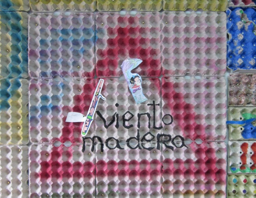 """Peligro, Viento Madera"". Imagen del aula del CPM Manuel Carra. Mariana Fdez Astaburuaga. CC2015"