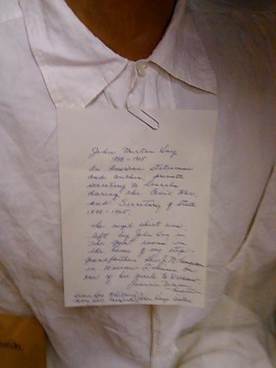 John M. Hay's stolen shirt.