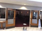 Doors to the sanctuary.