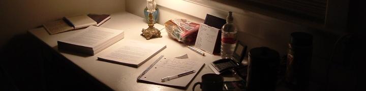 desk at retreat - photo by Marian Allen