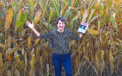 Mennonite Daughter in a Cornfield with a Giveaway