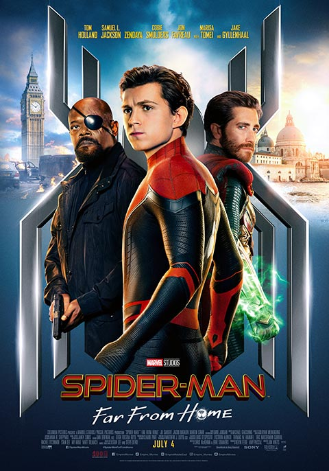 Spiderman: Far from home poster from https://uae.voxcinemas.com/movies/spider-man-far-from-home
