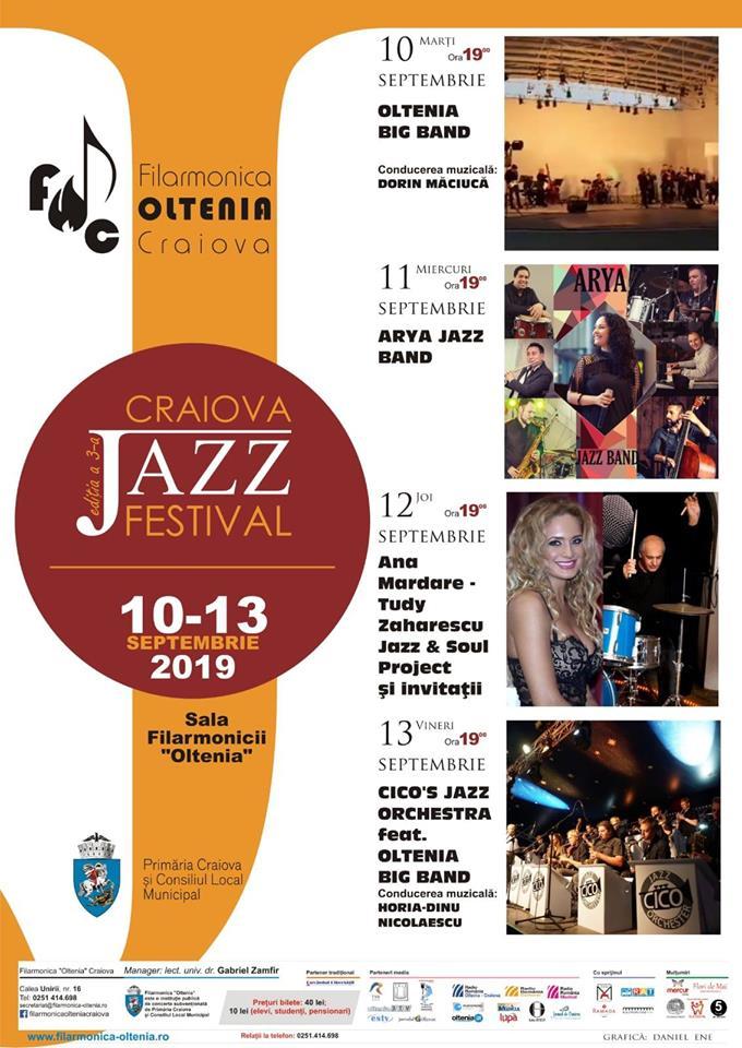 Afis Craiova Jazz Festival 2019