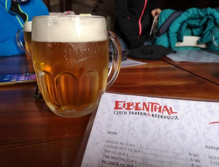Bere cehă la Eibenthal Beerhouse