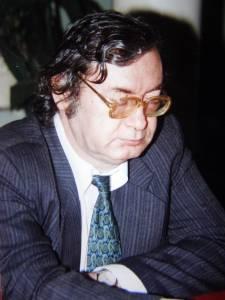 Liviu Radu, președinte al juriului la concursul de literatură X-Fiction, Brăila, 1999
