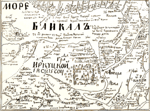 Baikal map from 1700