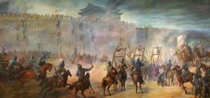 Mongol siege of a city