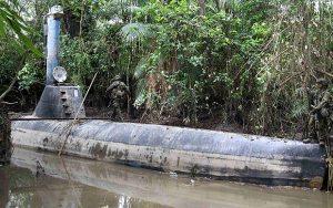 Submarine used for drug traficking