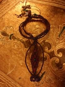 macrame bracelet with ring - princess bracelet