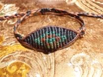 macrame eye bracelet for man