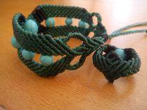 Macramé bracelet with ring