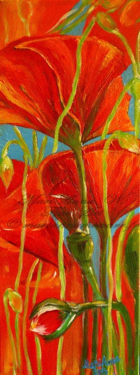 Poppy-Passion, acrylic on canvas by © MariAnna MO Warr