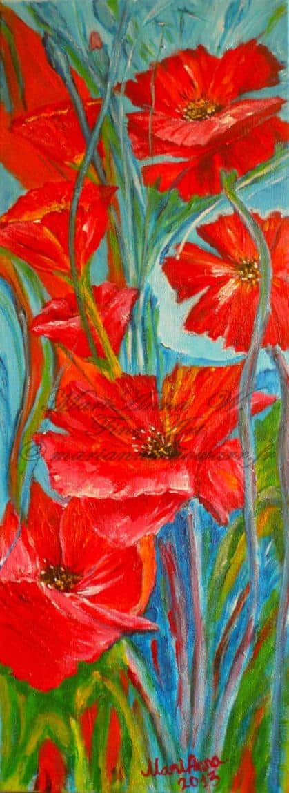 Poppy-Dream, acrylic on canvas by © MariAnna MO Warr
