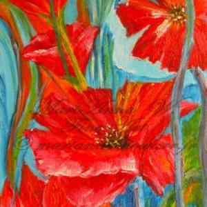 Poppy-Dream, acrylic on canvas by © MariAnna MO Warr