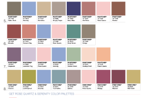 Pantone Colors, Serenity and Rose Quartz combination 2016, picture taken from Pantone's official website: Pantone.com