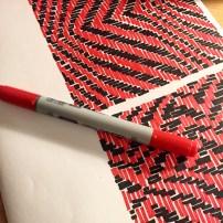 Nello, M. (Feb.2016) Weaving Ideas, exploring weaving patterns-ideas in my own sketchbook.