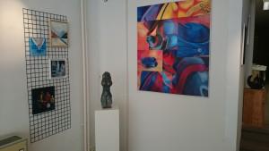een klein hoekje van de ruime galerie Arterhoek